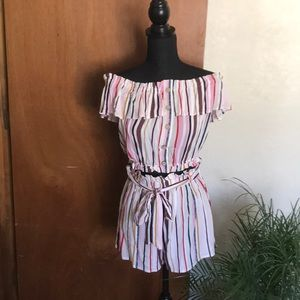 IRIS Multi-Color Stripes Top and Shorts